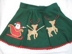 Ugly Tacky Christmas Sweater Skirt Santa by DicardomyHoliday