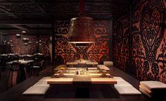 Cast bronze bells as lamps - Kameha Grand, Zurich