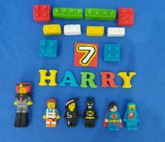 Edible Sugar Lego The Movie Cake Topper Boys Birthday Emmet Batman & Co & Bricks