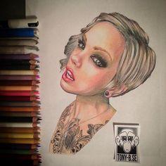 Today i decided to draw i portrait so I found @saraontheinternet here on Instagram . Hope you like it #portrait#art#drawing#ink#pen#worldofpencils @worldofpencils @art_motive @artists_community @artofdrawingg