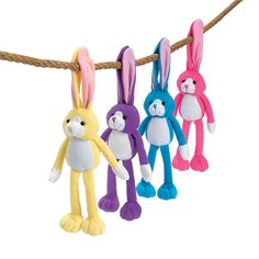 Plush Long Ear Bunnies - OrientalTrading.com,,,,,,,,cute for Easter favor at Egg decorating party
