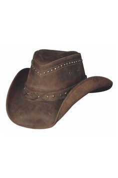 Bullhide Burnt Dust Leather Outback Cowboy Hat