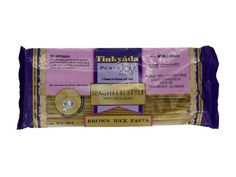 Tinkyada is a brand that makes pasta from brown rice...Therefore it has no dough softeners that are usually part of the wheat manufacturing process. Tastes just like normal pasta, but without the sulfites. ..comes in a wide array of pastas as well