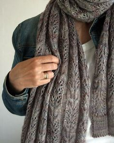 """knittingcountess: """" Who says you have to choose between cables and lace? Wheaton by Anne Hanson. """""""