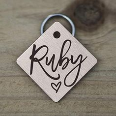 Amazon.com : Stainless Steel Pet ID Tags, Personalized Dog Tag and Cat Tag, Gold, Rose Gold, and Silver, up to 5 Lines of Custom Text, Engraved on Both Sides, in Round, Bone, Diamond, and More (Heart) : Pet Supplies Cat Tags, Pet Id Tags, Personalized Dog Tags, Cute Box, Pet Names, Pattern Names, Love Design, Really Cool Stuff, Pet Supplies
