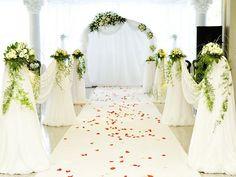 Kate White Wedding Curtain Flower Backdrops Beautiful