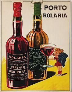 Porto Rolaria (store display) red port wine poster carton.