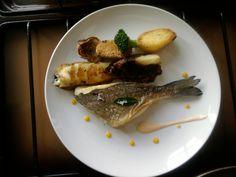 Orata patate ''( sabbiose,cannolo e arrosto)''  e radicchio, carciofo e broccolo Gino D'Aquino