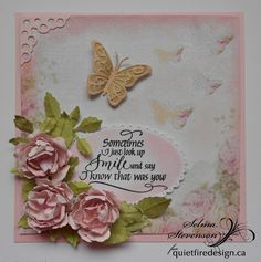 This is the card I designed for my Quietfire Creations Design Team Blog  Post.  I used Suzanne's beautiful, new, Sometimes I Just L...