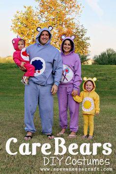 DIY Halloween DIY Costumes: DIY no-sew care bear costumes