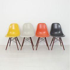 4x Eames Fiberglas chair stuhl DSW Herman Miller/Vitra