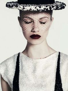 Hailey Clauson for Vogue Russia January 2012 Sparkles in Chanel