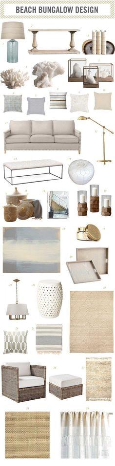 | beach bungalow room design |