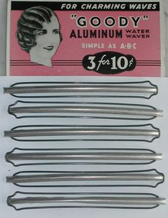 8 Vintage Very Rare 20s 30s Wave Clips FLAPPER by RumbleSeatCat, $72.95