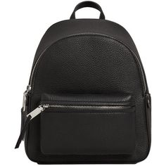 Pebbled Backpack (105 RON) ❤ liked on Polyvore featuring bags, backpacks, backpack, strap backpack, pebbled-leather bags, long strap bags, daypack bag and mango bags