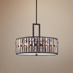 "Fredrick Ramond Gemma 21 1/4"" Wide Bronze Pendant Light - #6K328 | Lamps Plus"