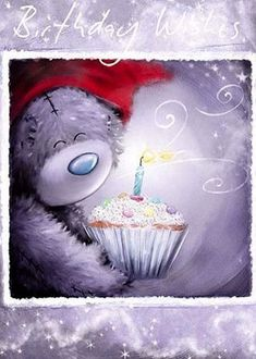 Tatty Teddy with Cupcake Me to You Bear Card : Me to You Bears Online - The Tatty Teddy Superstore. Happy Birthday Messages, Happy Birthday Images, Birthday Pictures, Birthday Greetings, Birthday Wishes, Tatty Teddy, Teddy Bear Images, Teddy Bear Pictures, Daddy Birthday