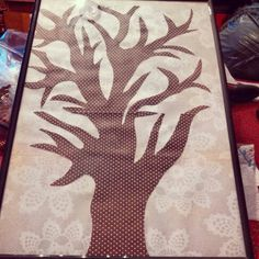 A Kappa Phi family tree to hang in chapter room. Have new girls after Degree of Pine put their finger print on the background, write their name and pledge year.
