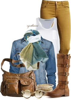 """""""There's Mustard On My Jeans..."""" by cynthia335 on Polyvore"""