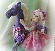 Коллекционные куклы ручной работы. Авторская композиция из шерсти