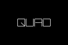 Quad Cinema by Pentagram, United States. #branding #logo