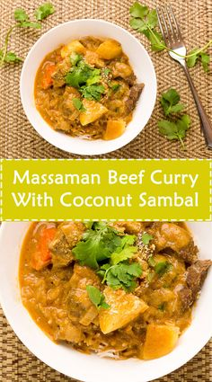 Massaman Beef Curry With Coconut Sambal