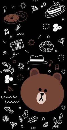 28 Ideas Wallpaper Iphone Cute Panda Phone Wallpapers For 2020 Cute Black Wallpaper, Brown Wallpaper, Black Wallpaper Iphone, Bear Wallpaper, Kawaii Wallpaper, Galaxy Wallpaper, Aesthetic Iphone Wallpaper, Disney Wallpaper, Nature Wallpaper