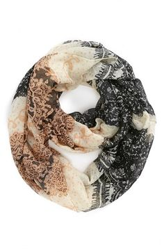 Floral Lace Infinity Scarf   @Nordstrom