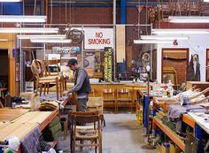 Behind the scenes in the Modern Times workshop. Modern Times, Vintage Furniture, Behind The Scenes, Restoration, Workshop, Mid Century, Inspiration, Art, Biblical Inspiration