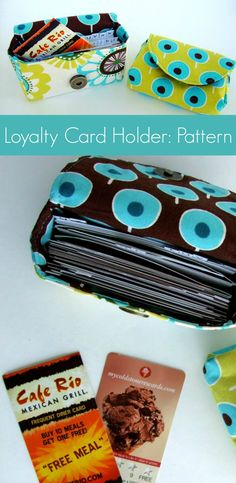 Loyalty Card Holder Pattern + Tutorial (Can also be for coupons, business cards, ect! Sewing Hacks, Sewing Tutorials, Sewing Crafts, Sewing Projects, Diy Pochette, Pouch Pattern, Free Pattern, Diy Purse, Business Card Holders