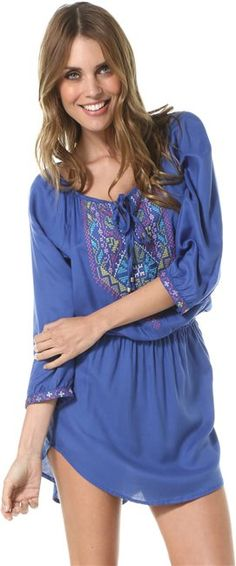 ANGIE EMBROIDERED DRAW STRING DRESS > Womens > Clothing > New | Swell.com