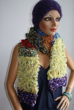 knitted scarf handmade Shawls, Different Colors, Scarves, Colours, Knitting, Unique, Handmade, Ponchos, Scarf Crochet