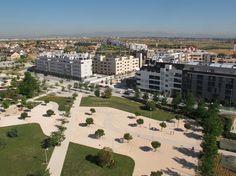 Las Cárcavas: foto aérea. Distrito de Hortaleza. obras en Valdebebas, Madrid a 2013