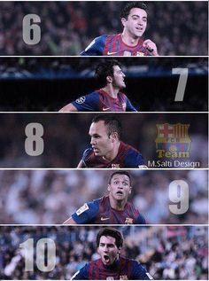 6,7,8,9,10... feel like this isn't complete with out 1,2,3,4,and 11 but still a nice pic! #Barca