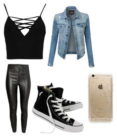 """""""party  time😀😲"""" by blackberry2003 ❤ liked on Polyvore featuring beauty, Boohoo, LE3NO, Converse and Rifle Paper Co"""