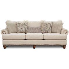 Simmons Upholstery Troy Bronze Chenille Loveseat