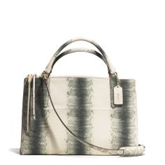 The Borough In Striped Embossed Leather from Coach...I love this bag...and I know I will never have it...lol