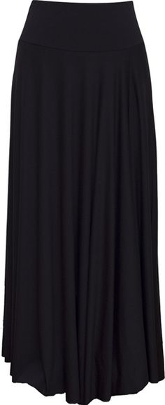Black maxi skirt.