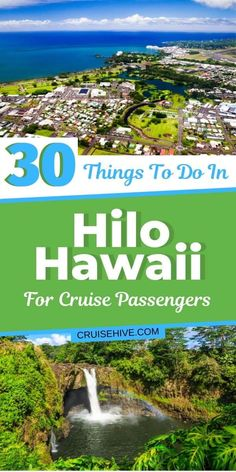 30 Things to Do in Hilo, Hawaii for Cruise Passengers Traveling to the Big Island? Here are things to do in Hilo, Hawaii for cruise ship visitors. With travel tips and places such as the farmers market and more! Best Cruise, Cruise Port, Cruise Tips, Cruise Travel, Shopping Travel, Hawaii Vacation, Cruise Vacation, Hawaii Travel, Beach Trip
