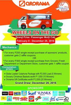 This year could be your luckiest ever when you get to own this Passenger Multi Cab. Join Ororama's Wheels-on-the-Go promo, and get a chance to win amazing prizes on the grand draw this December 👍 December, Wheels, Join, Draw, Amazing, To Draw, Sketches, Painting, Tekenen