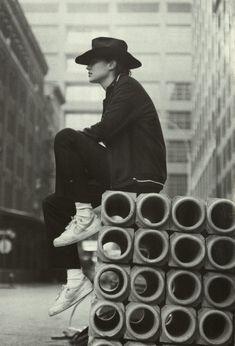 "teenagedirtstache: ""track top di cotone felpato e pantaloni neri, Y's for Men Yohji Yamamoto """