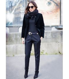 @Who What Wear - Trick 3: Try one color from head to toe.   The monochromatic look creates an uninterrupted visual line. Just make sure your ankle and tops of your feet are covered.  Photo courtesy of Style Du Monde