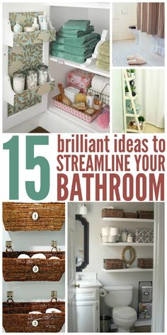 Bathrooms could always use organization. Here are some cute and easy diy tips and tricks to help you achieve the look you want.