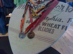 frayed ribbon necklace