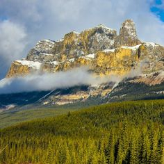 Castle Mountain in #Banff National Park. #Canada Photo courtesy of brianthio on Instagram.