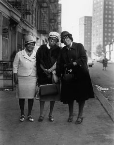 stereoculturesociety:  CultureSOUL: Ladies of East Harlem (early 1960s) Sunday Best, East 100th Street. Photo by Bruce Davidson