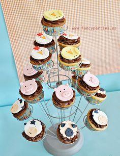 Fazendo a Minha Festa!: Ideias de Cupcakes para festa de Fazendinha!