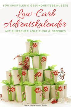 Low-Carb-Adventskalender einfach selber machen Advent Calendar, Low Carb, Holiday Decor, Fitness, Christmas, Food, Teenager, Xmas Ideas, Winter