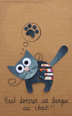 Faut donner sa langue au chat!  #jeans #recycle