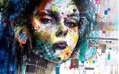 I like the graffiti style in this portrait, it looks very colourful and creative :)